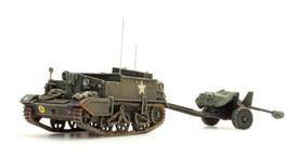 U.K. Universal Carrier & 6 pdr Anti Tank Gun Artitec 387.126 New 1/87 Finished M