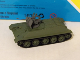 Captured Russian T-34 With 20mm AA Gun AMA600048 New 1/87 Finished Model