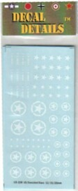 US White Stars and Stenciled Circles w/Stars. Decals. I-94 US108. New 1/87 & Sma
