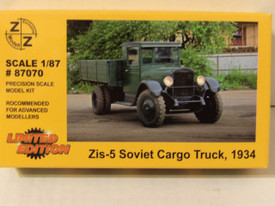 Russian WWII ZiS-5 Cargo Truck 1934 Z+Z 87070 New 1/87 Unfinished Plastic Kit