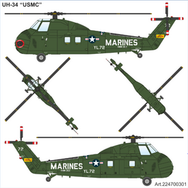 Sikorsky UH-34 USMC Helicopter Arsenal-M 224700301 New 1/87 Scale Plastic Kit