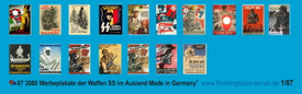 Waffen SS Recruiting Posters WWII Peddinghaus Decals 3080 New 1/87 Scale