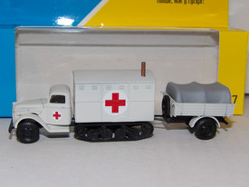 Ford 3000 Diesel Ambulance Maultier with Trailer AMA Models 494 New 1/87 Scale