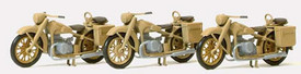 German BMW R12 Motorcycles Preiser 16572 New 1/87 Scale Unfinished Plastic Kit