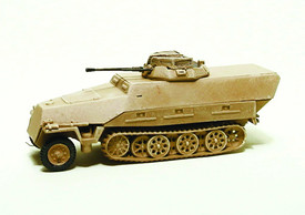 Sd.Kfz.251/23 Ausf.D Armored HalfTrack Trident 90304 New 1/87 Scale Plastic Kit