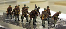 German Paratroops Marching Trident 96501 New 1/87 Scale Resin Kit Unfinished