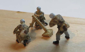 German Paratroops Mortar Group Trident 96503 New 1/87 Scale Resin Kit Unfinished