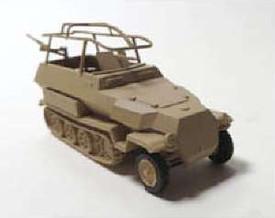 Sd.Kfc.251/3 Ausf.C Radio Half Track Trident 90396 New 1/87 Scale Plastic Kit