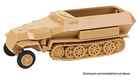 Sd.Kfz.251/2 Ausf.C Mortar Carrier Trident 90399 New 1/87 Scale Plastic Kit Unfi