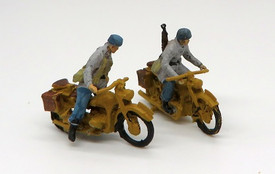 German Paratroops Motorcycles & Riders Trident 96505 New 1/87 Scale Resin Kit Un