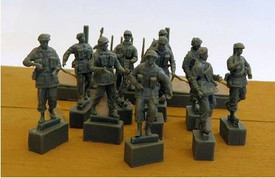British Paratroopers Marching Trident 96601 New 1/87 Scale Resin Kit Unfinished