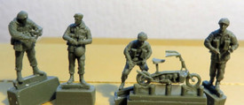 British Paratroopers Platoon HQ Trident 96604 New 1/87 Scale Resin Kit Unfinishe