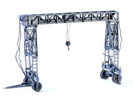 Fries Gantry Crane Wespe Models 87154 Resin 1/87 Scale Kit Unfinished
