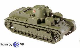 T-28 Russian Medium Tank (1938) Minitanks 1205 New 1/87 Plastic Kit Unfinished