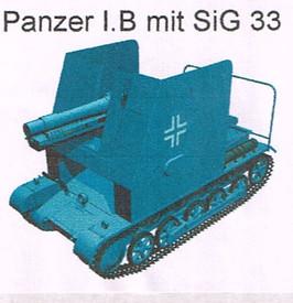 Panzer I.B with SiG 33 Infantry Gun Artmaster 80.459 New 1/87 Resin Kit