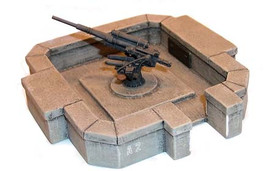 Heavy Flak Stand 8.8 (without Flak) Artmaster 80009 Resin 1/87 Scale Kit