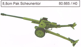 8.8cm Pak 43/41 Scheunentor Artmaster 80.665 Resin 1/87 Scale Kit Unfinished