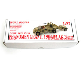 Phanomen Granit 1500A Flak Truck Wespe 87194 Resin 1/87 Scale Kit Unfinished