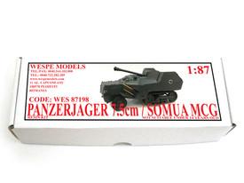 Panzerjaeger 75mm / Somua MCG Wespe 87198 Resin 1/87 Scale Kit Unfinished