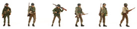 US WWII Infantry w/Weapons Artitec 387.88 New 1/87 Finished Figures