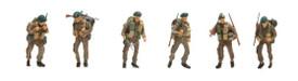 British WWII Commando Figures Artitec 387.134 New 1/87 Finished Painted