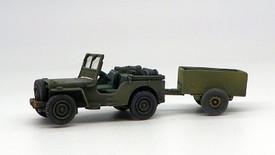 British Airborne Jeep & Trailer Trident 87229 Resin 1/87 Unfinished Kit
