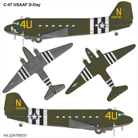 C-47 USAAF D-Day Arsenal-M 224700031 New 1/87 Plastic Kit Unfinished