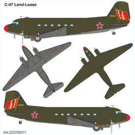C-47 Lend Lease Russia Arsenal-M 223700011 New 1/87 Plastic Kit Unfinished