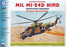 Mil Mi-24D Hind Attack Helicopter SDV 7005 Plastic 1/87 Scale Kit Unfinished