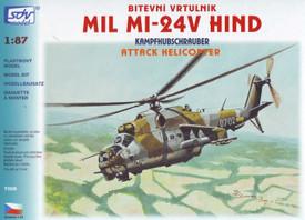 Mil Mi-24V Hind Attack Helicopter SDV 7006 Plastic 1/87 Scale Kit Unfinished