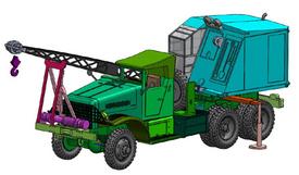 Brockway B666 Crane Truck 1/87 Arsenal-M 114201231 New Resin Kit Unfinished