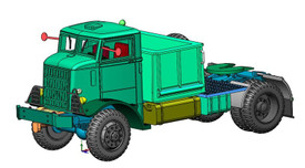Autocar U8144-T US Army Tractor Closed Cab 1/87 Arsenal-M 114201421 Resin Kit