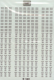 German Army License Plate Markings TL Decals 1401 New 1/87 Scale