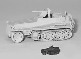 Sd.Kfz. 250/5 Observation Half Track Trident 90267G New 1/87 Scale Unfinished