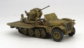 Sd.Kfz 10/4 Light Half Track 2cm Flak 30 Trident 87100 Resin 1/87 Kit Unfinished