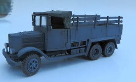 Krupp L3H163, 3ton 6X4 Cargo Trident 87158 Resin 1/87 Kit Unfinished