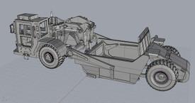 Caterpillar Type 621 B Scraper Arsenal-M 114201911 Resin 1/87 Kit Unassembled