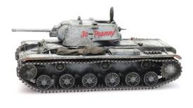 KV-1 Heavy Tank Winter Camo Artitec 6870334 Resin 1/87 Finished Painted Model
