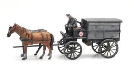 Ambulance Horse Drawn WWI Era Artitec 387.386 Finished 1/87 Model Painted