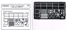Detail Set For Sd.Kfz.173 Jagdpanther Arsenal-M 112500221 New 1/87 Scale Kit