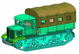 Voroshilovets Heavy Tractor Arsenal-M 113100102 Resin 1/87 Kit Unfinished