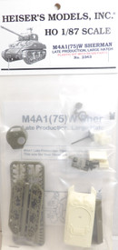 M4A1 Sherman Late Production Heisers 2343 Plastic Resin 1/87 Kit Unfinished