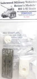 M4 Sherman Composite Hull Heisers 5003 Resin 1/87 Kit Unfinished