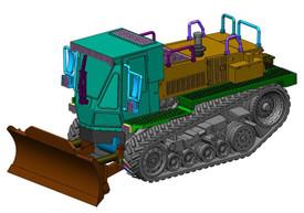 M105 DEUCE Engineer Caterpillar Arsenal-M 114103051 Resin 1/87 Kit Unfinished
