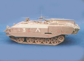 """IDF Armored Personnel Carrier """"Achzarit"""" Trident 81003 Resin 1/87 Kit Unfinished"""