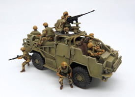 British Modern Infantry Mounted Trident 96651 Resin 1/87 Figures Unfinished