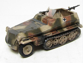 German WWII Light Half track Personnel Carrier. Trident 90246G New 1/87 Plastic