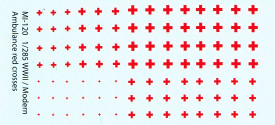 Red Cross Markings For 1/285 to 1/300 Scale Armor I-94 Decals. MI120