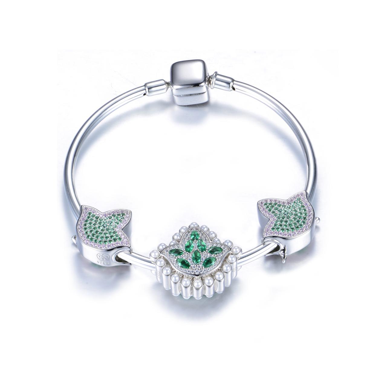 d36c699cf New Alpha Kappa Alpha Heirloom Bead Charm Bracelet - Angela Long ...