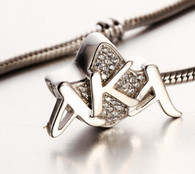 Sterling Silver AKA Ivy bead charm fits all standard bead bracelets.